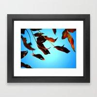 Wake Up Leaves Framed Art Print