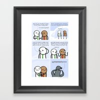 Antics #128 - Survival I… Framed Art Print