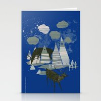 magic mountains Stationery Cards
