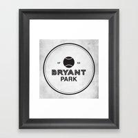 Bryant Park Framed Art Print