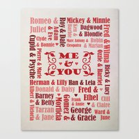 Great Couples in History Canvas Print
