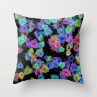 Roses Color Throw Pillow