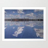 Linear Sky Art Print