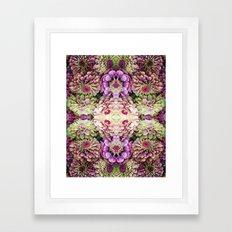 Dark floral Framed Art Print