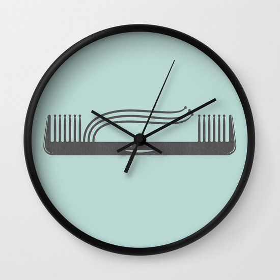 Comb Over Wall Clock