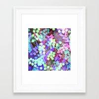 Dots & Leaves. Framed Art Print