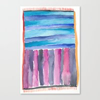 Colorful Quilt Abstract Canvas Print