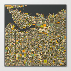 VANCOUVER MAP Canvas Print