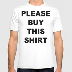 PLEASE BUY THIS SMALL White Mens Fitted Tee