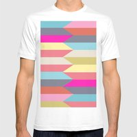 Colorful Confusion Mens Fitted Tee White SMALL