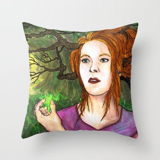 """Through the Woods"" by Cap Blackard Throw Pillow"