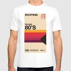 Super Tape Mens Fitted Tee White SMALL