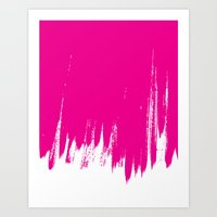 HIGH CONTRAST MAGENTA Art Print