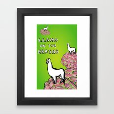 Llama on the Brains Framed Art Print