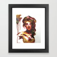 Mat Board Lady (2) Framed Art Print