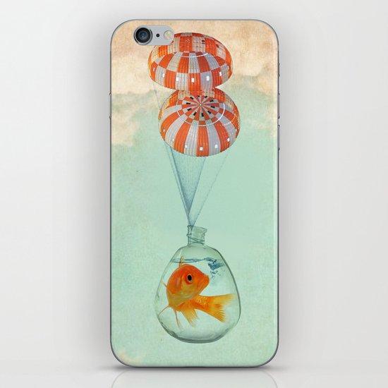 parachute goldfish iPhone & iPod Skin