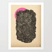 - Obscure The Pink Shade… Art Print