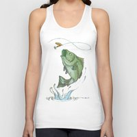 Bass Jumping At Night Unisex Tank Top