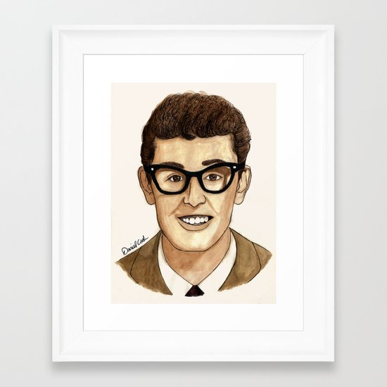 Buddy Holly Framed Art Print