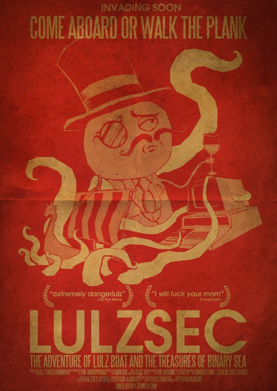 LulzSec: The Adventure Of Lulz Boat & The Treasure of Binary Sea Art Print