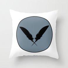 Raven Feathers Throw Pillow