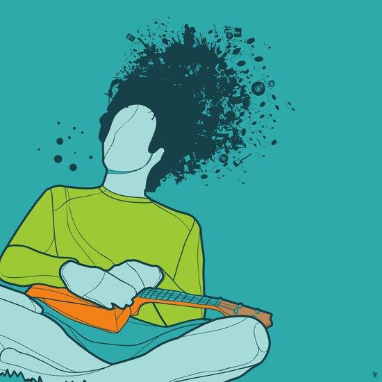 Thinking Music Art Print