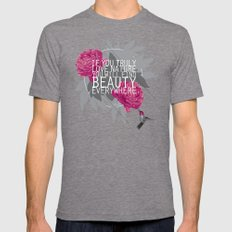Finding Beauty Mens Fitted Tee Tri-Grey SMALL