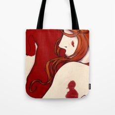 Blood Floor Tote Bag