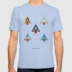 Choose your triangle. Mens Fitted Tee Athletic Blue SMALL