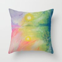 Impressions At Sundown  Throw Pillow