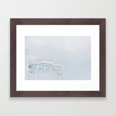 FRENCH RIVIERA III Framed Art Print
