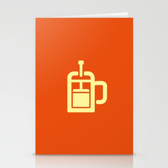 Coffee: The French Press Stationery Card