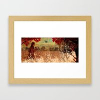 By the woods Framed Art Print