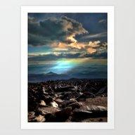 Pike's Peak Sunset Art Print