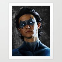 Joseph Gordon Nightwing Art Print