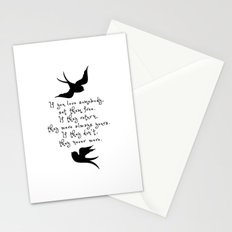 If You Love Someone, Set Them Free. Stationery Cards