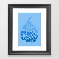 Drink More Water Framed Art Print