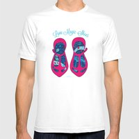 MAGIC SHOES Mens Fitted Tee White SMALL