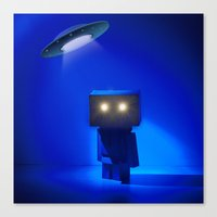 Danbo abducted Canvas Print