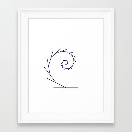 #323 Tendril – Geometry Daily Framed Art Print