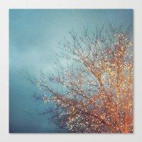 December Lights Canvas Print