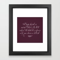 Proverbs: A Dog's Bark Framed Art Print