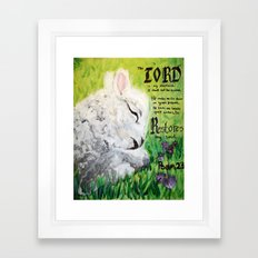 The Lord Restores Psalm 23 Framed Art Print