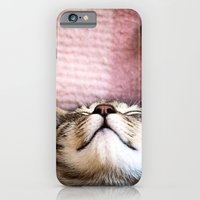 iPhone & iPod Case featuring Emily, the cat by Ylenia Pizzetti