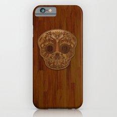 Wooden Sugar Skull Slim Case iPhone 6s