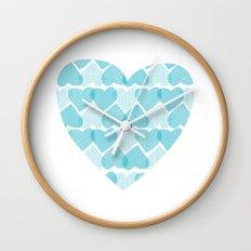 Blue, blue heart Wall Clock