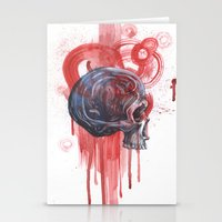 Bloody Skull Stationery Cards