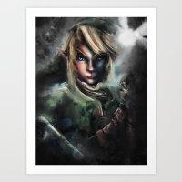 Legend of Zelda Link the Epic Hylian Art Print