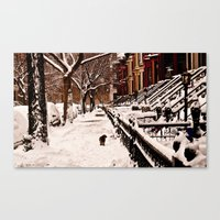 On his own Canvas Print