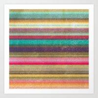 Stripes - pattern Art Print